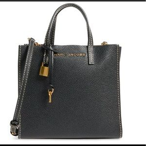 Marc Jacobs The Grind Mini Tote Black Leather